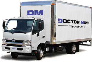 Doctor Move Transports Truck Front View